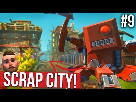 EXPLORING THE LOST SCRAP CITY!! - SCRAP MECHANICS SURVIVAL #9