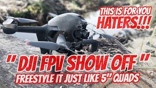 DJI FPV TRUE FREESTYLE - Uncut Freestyle Footage - Haters Must Watch