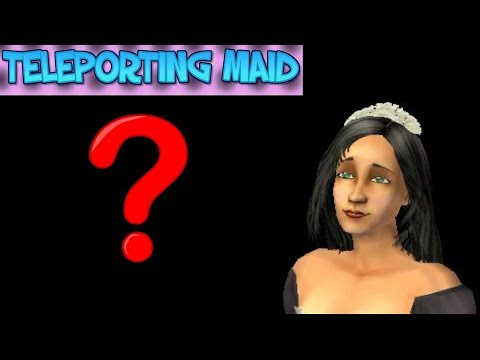 Teleporting Maid in The Sims 2: Pets (PS2)