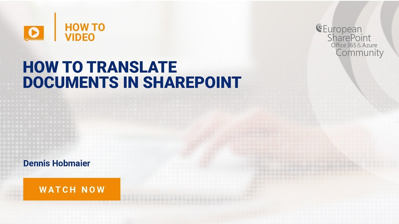Translate Documents in SharePoint