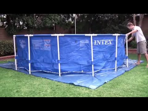 Intex Metal Frame Pools set up (pools up to 15ft)