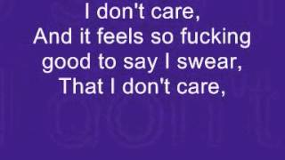 Cheryl Fernandez-Versini - I Don't Care (Lyrics on Screen)