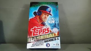 2016 Topps Series 1 Baseball Hobby Box Break! Awesome!