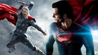 Superman VS Thor Fight Battle Marvel VS DC