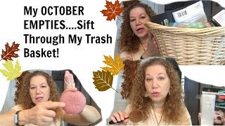 My October Empties - What Is In My Trash?