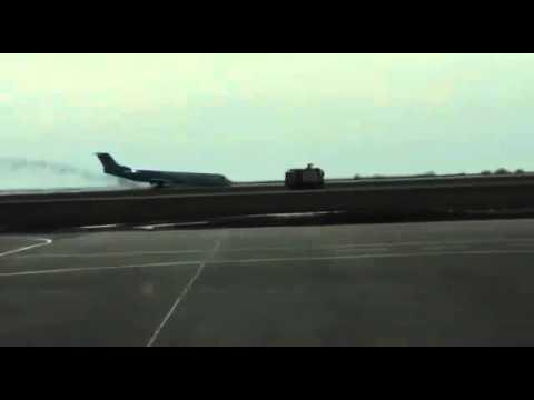 Die Notlandung von Astana [Video aus YouTube]