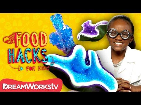Edible Geodes and Science Snack Hacks!   FOOD HACKS FOR KIDS