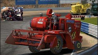 WreckFest GoPro PC- 24 Man NEW Harvester Race + NEW School Bus