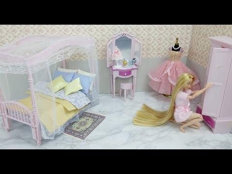 Disney Princess Rapunzel Doll Bedroom Barbie Bedroom