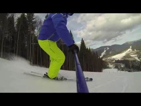Катание на лыжах в Буковели 2014 / Skiing in Bukovel 2014