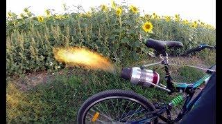 Российский умелец соорудил велосипед с реактивным двигателем