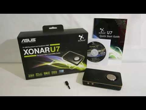 ASUS Xonar U7 USB Sound Card Overview