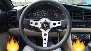 1987 Porsche 944 Momo prototipo steering wheel install