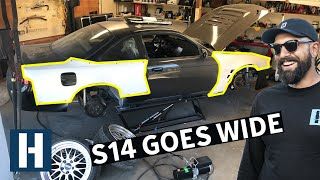 Chopping up Vin's 500hp 1JZ Swapped 240sx: Wide Wheel Prep!