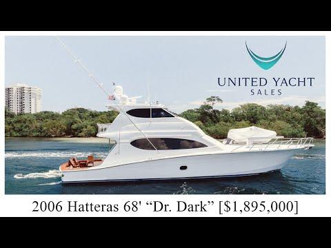 Hatteras 68 Convertible video