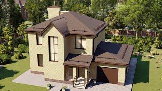 Проект дома 160-A, Площадь дома: 160 м2, Размер дома:  11,9x8 м