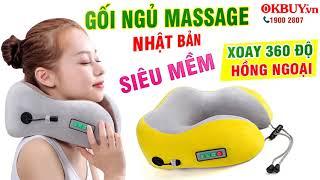 Video gối ngủ massage điều trị đau mỏi cổ Nhật Bản YJ-818 - Hàng cao cấp