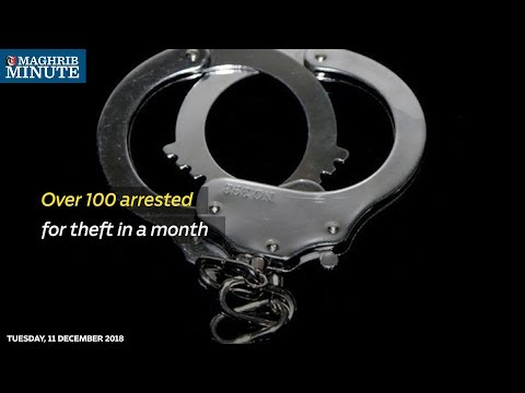 Over 100 arrested for theft in a month