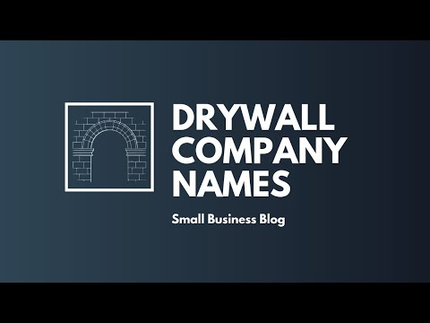 , title : 'Catchy Drywall Company Names