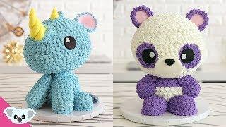 Rhino And Panda CAKE   Kawaii Animal Birthday Party Ideas   Cake Art   Koalipops