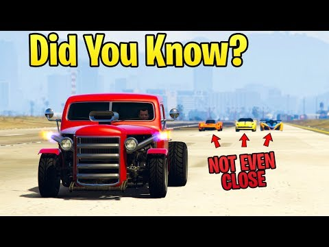 GTA Online DID YOU KNOW? - The FASTEST Vehicle In A Straight Line (It Smokes Everything)