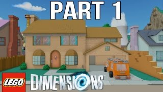 LEGO Simpsons Walkthrough Part 1 - LEGO Dimensions The Simpsons Level Pack