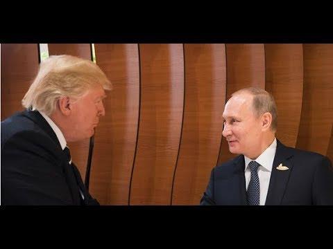 بث مباشر الرئيس الروسي فلاديمير بوتين ورئيس الولايات المتحدة دونالد ترامب يعقدان اجتماعًا ثنائيًا