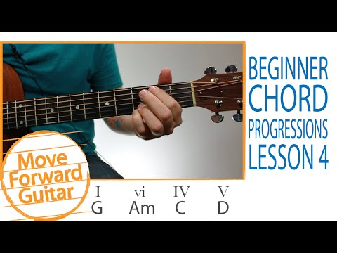 Guitar for Beginners - 5 Popular Chord Progressions - Lesson 4