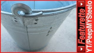 Galvanized Buckets Made of Steel Sheet Metal as Water Trough Pails or Wash Tub to Small Planters