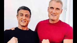 Creed 2,Training Sylvester Stallone and Dolph Lungren,2018