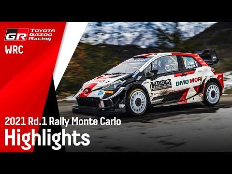 WRC 2021 開幕戦のラリーモンテカルロ ToyotaGazooRacing勢が大活躍したヤリスWRCのハイライト動画