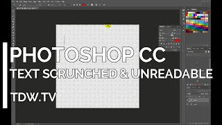 Photoshop CC - Garbled & Unreadable Text - Leading