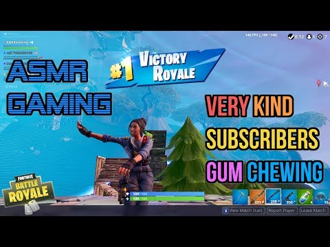 ASMR Gaming | Fortnite With Very Kind Subscribers Gum Chewing 🎮🎧Controller Sounds + Whispering😴💤
