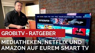 So könnt ihr die Mediatheken, Netflix und Amazon auf eurem SMART TV sehen