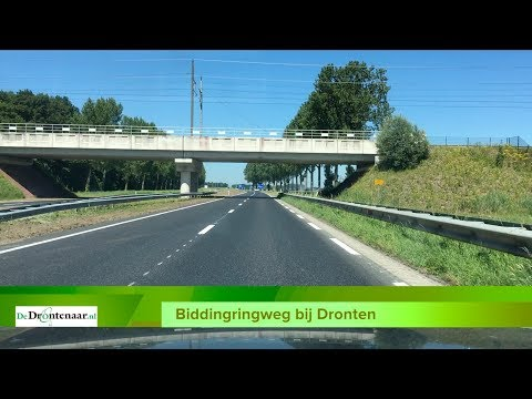 VIDEO | Dashcambeelden van vrijdag heropende deel van de Biddingringweg bij Dronten
