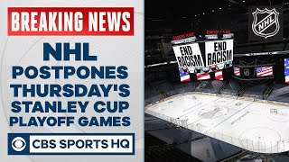 NHL postpones Thursday's Stanley Cup Playoff games, per report | CBS Sports HQ
