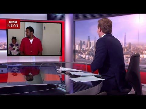 Fafi interrupts Daddy on BBC Interview parody
