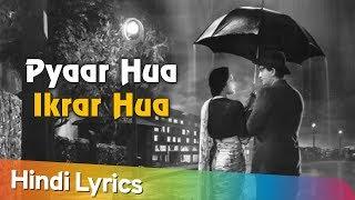 Lyrical | Pyar Hua Ikrar Hua Hai | Lata Mangeshkar   - YouTube