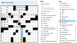 The February 22, 2018 New York Times Crossword by Zhouqin Burnikel