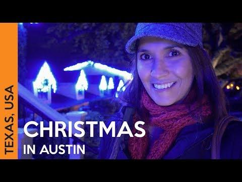 CHRISTMAS LIGHTS in Austin, Texas - Vlogmas 1 🎄