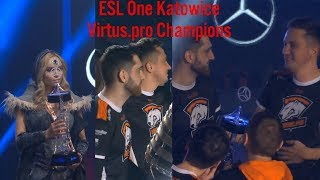 Virtus.pro champion 🏆 ESL One Katowice 2018 champions Grand Final vs Vici Gaming #CyberWins