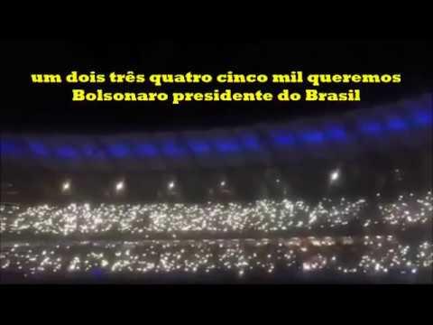 #EleSim Estadio do Mineirão as Torcidas, Cruzeiro e Atlético cantam o Capitão chegou