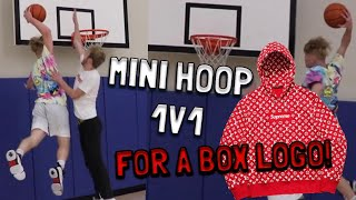 MINI HOOP 1V1 FOR SUPREME BOX LOGO!!