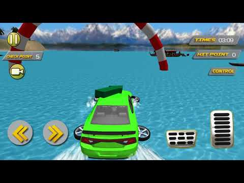 Water Surfer Floating Luxury Car - Android Mobile Games 4 Kids
