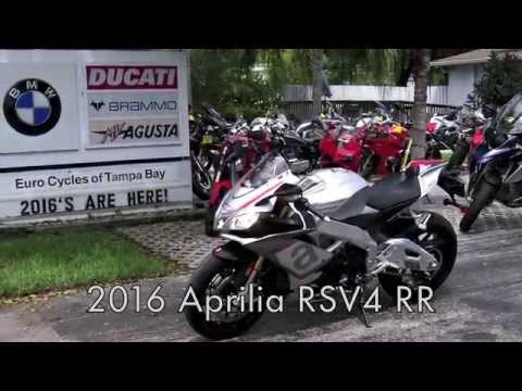 2016 Aprilia RSV4 RR Bucine Grey at Euro Cycles of Tampa Bay