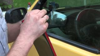 Как установить ветровики (дефлекторы) боковых окон