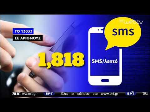 Τα… ρεκόρ των SMS στο 13033 | 04/05/2020 | ΕΡΤ