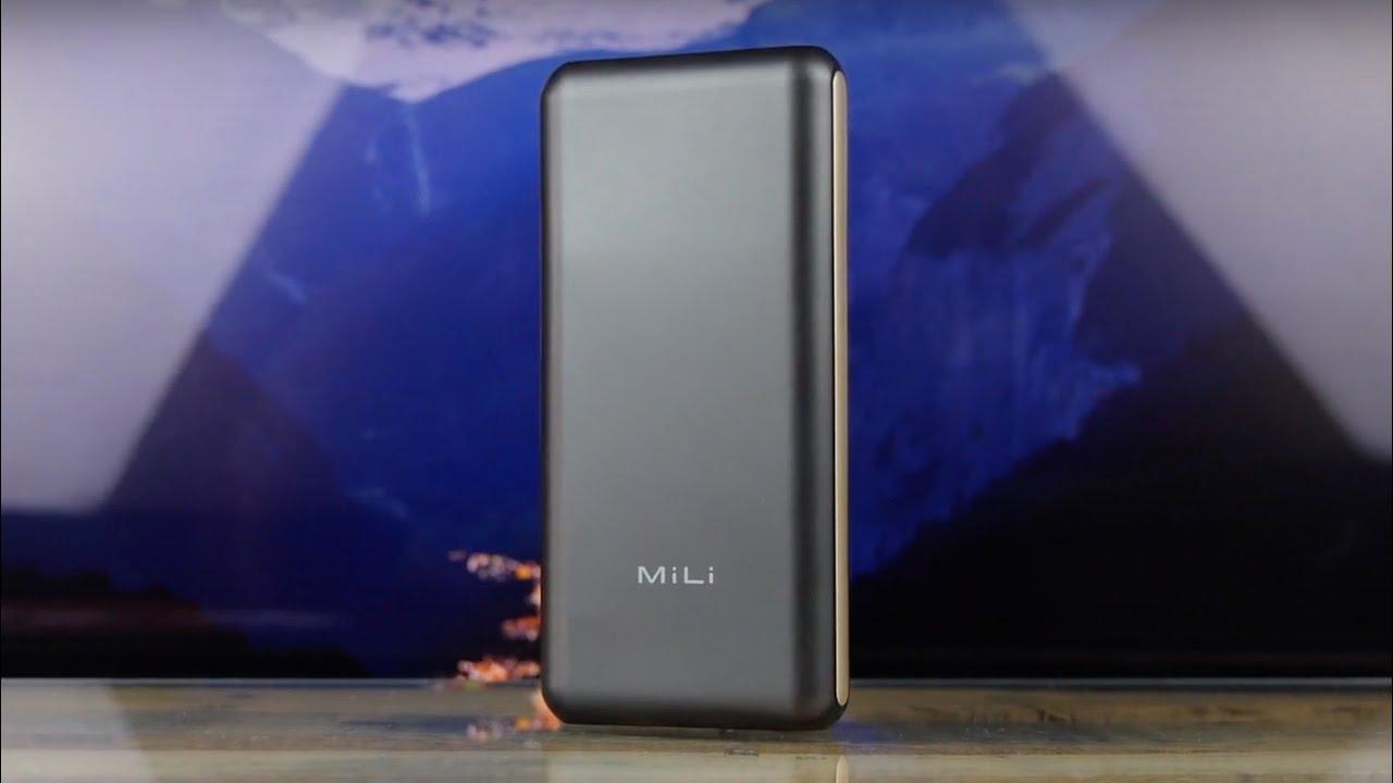 Портативное ЗУ MiLi Power King III 20 000mAh (Black) HB-P20 video preview