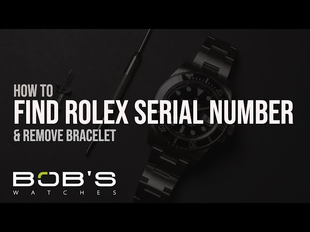 Rolex Serial Numbers & Production Dates Lookup Chart | Bob's Watches