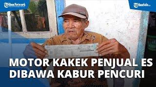"Viral Motor Kakek Penjual Es Keliling Dibawa Kabur Pencuri, Pelaku Melambaikan Tangan ""Dadah"""